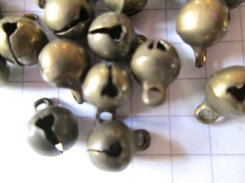 Bronze TINY JINGLE BELL Charms x 1